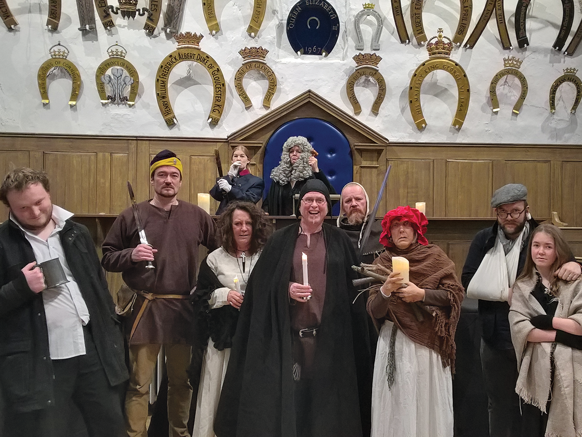 Crime and Punishment Tour characters at the Castle